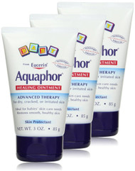 Aquaphor Baby Healing Ointment Diaper Rash and Dry Skin Protectant, 3 oz (Pack of 3)