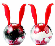 Chef'n Mini Magnetic PepperBall and SaltBall Set, Cherry