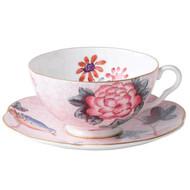Wedgwood Harlequin Cuckoo Tea Story Teacup and Saucer, Pink