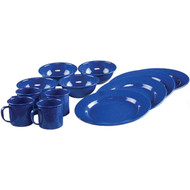 Coleman 12-Piece Enamelware Dining Set (Blue)