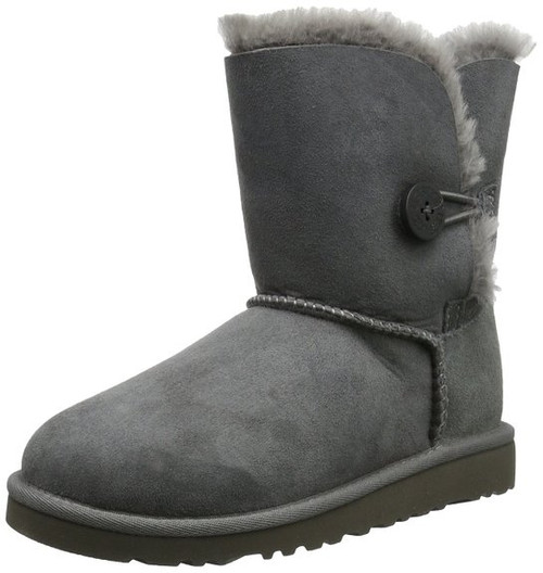 2648c99ee8d UGG Australia Infants' and Kids' Bailey Button Shearling Boots - grey