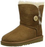 UGG Australia Infants' and Kids' Bailey Button Shearling Boots -  Chestnut