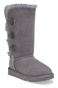 UGG Kids' Bailey Button Triplet Boot Youth - Grey