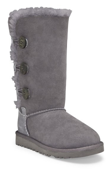 3a17b18712e UGG Kids' Bailey Button Triplet Boot Youth - Grey