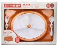 Skip Hop Mate Feeding Plate and Utensils - Orange