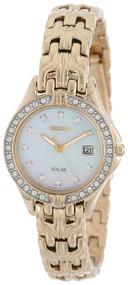 Seiko Women's SUT086 Excelsior Solar Swarovski Crystals Japanese Quartz Watch