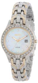 Seiko Women's SUT084 Excelsior Solar Swarovski Crystals Japanese Quartz Watch