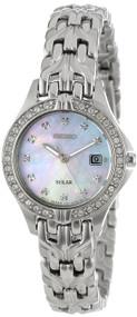 Seiko Women's SUT083 Excelsior Solar Swarovski Crystals Japanese Quartz Watch