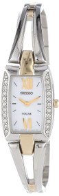 Seiko Women's SUP084 Two Tone Stainless Steel Analog with White Dial Watch