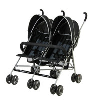 Dream On Me Double Twin Stroller, Navy