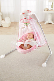 Fisher Price Papasan Cradle Swing Mocha Butterfly For Moms