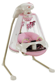 Fisher-Price Papasan Cradle Swing, Mocha Butterfly