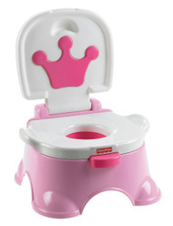 Fisher-Price Royal Stepstool Potty, Princess Pink