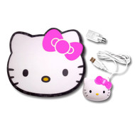 Hello Kitty KT4098 USB/PS2 Optical Mouse and Mouse Pad
