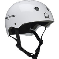 Pro-tec Classic Gloss Skateboard Helmet Gloss White