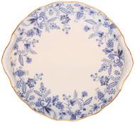 Noritake Sorrentino Cake Plate, 7-Inch, Blue