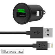 Belkin MIXIT Car Charger with Lightning Cable for iPhone 5 / 5S / 5c, iPad 4th Gen, iPad mini, iPod touch 5th Gen, and iPod nano 7th Gen (2.1 Amp / 10 Watt), Black
