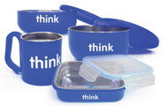 Thinkbaby Complete BPA Free Feeding Set, Blue, 6 Months