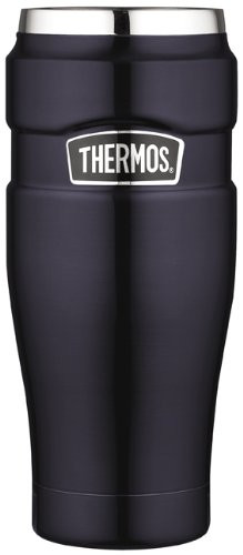 Thermos Stainless Steel King 16-Ounce Travel Tumbler, Midnight Blue
