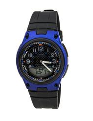 Casio Men's AW80-2BV Black Resin Quartz Watch with Black Dial