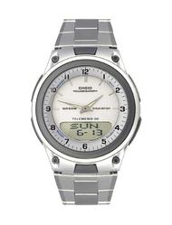 Casio AW80D-7AV Silver Face/ Silver Band Analog and Digital Readouts Watch