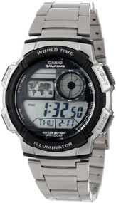 Casio Illuminator World Time Digital Grey Dial Men's watch #AE1000WD-1AV