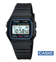 CASIO Digital Watch, Black (F-91W-1CR)