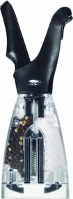Chef'n Dual Salt and Pepper Grinder, Black Finish