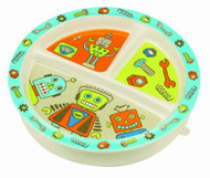 Sugar Booger Divided Suction Plate - Retro Robot
