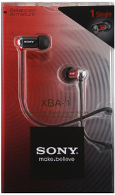 Sony XBA-1 Balanced Armature Headphones-1 Driver