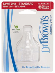 Dr. Brown's 2 Pack Natural Flow Level 1 Standard Nipple