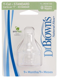 Dr. Brown's 2 Pack Natural Flow Y-Cut Standard Nipple