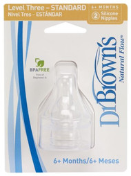 Dr. Brown's 2 Pack Natural Flow Level 3 Standard Nipple