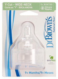 Dr. Brown's 2 Pack Natural Flow Y Cut Wide Neck Nipple