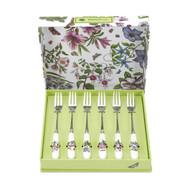 portmeirion botanic garden tea forks set 6