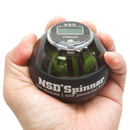 NSD Power Winners Roll and Spin Spinner Gyroscopic Wrist and Forearm Exerciser with Digital LCD Counter and Auto-Start Feature PB-688AC Black