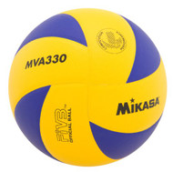 Mikasa MVA330 Spiral Club Volleyball (Blue/Yellow)