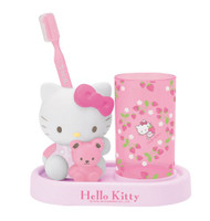 Hello Kitty Strawberry Toothbrush Center Set