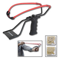 Marksman Adjustable Slingshot, Band & Ammo Kit 3060K