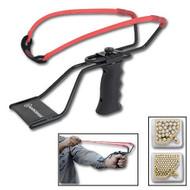 Marksman Adjustable Slingshot, Band & Ammo Kit 3060K