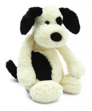 "Jellycat® Bashful Black & Cream Puppy, Large - 14"""