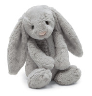 "Bashful Grey Medium Bunny (12"")"