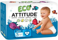 ATTITUDE Diapers - Size 3 - 30 ct