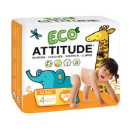 Attitude Eco-friendly Baby Diapers, Size 4, 26 Ea