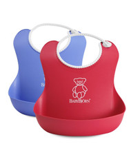 BABYBJORN Soft Bib 2 Pack - Count Red/Blue