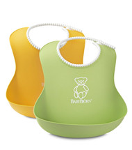 BABYBJORN Soft Bib 2 Pack - Count Green/Yellow