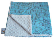 Baby Elephant Ears Blanket Large Blue Mod Square