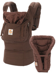 ERGObaby Organic Bundle of Joy Carrier and Infant Insert, Dark Chocolate