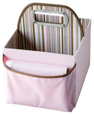 JJ Cole Collections Diaper Caddy, Pink Stripe
