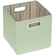 "JJ Cole Collections Storage Box, Green Stripe, 11"""